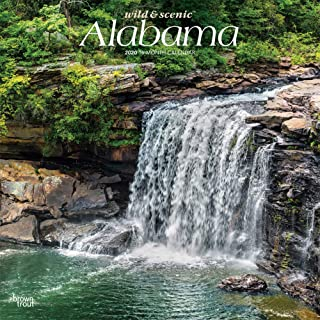 Alabama Wild & Scenic 2020 12 x 12 Inch Monthly Square Wall Calendar, USA United States of America Southeast State Nature