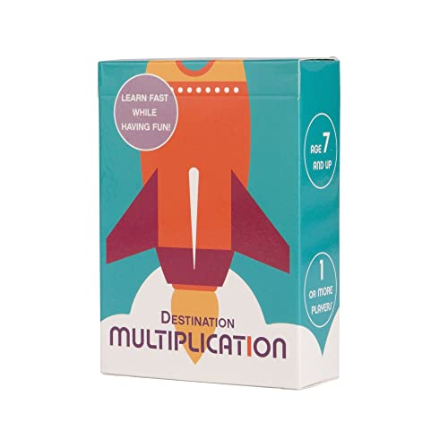 DESTINATION MULTIPLICATION - Times Table Flash Cards - For quickly memorising times tables !