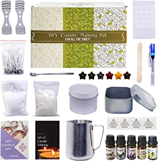 DIY Scented Candle Making Kit – 70 Piece Set | Creates Over 14 Premium Candles – 5 Pure Fragrances |Includes Master Class ...