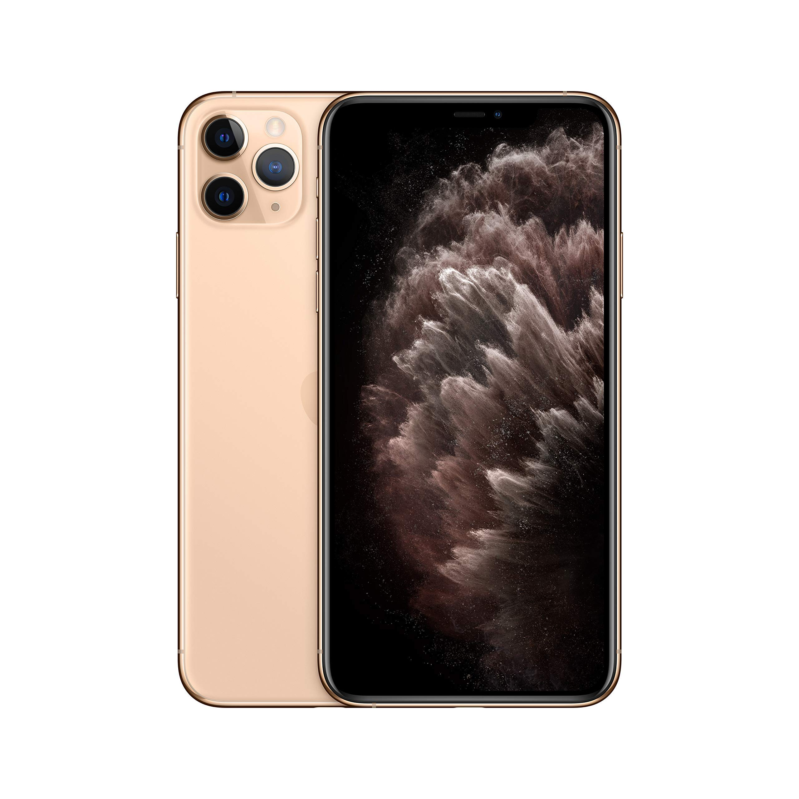 Apple iPhone 11 Pro Max (512GB, Gold) [Locked] + Carrier Subscription (Renewed)