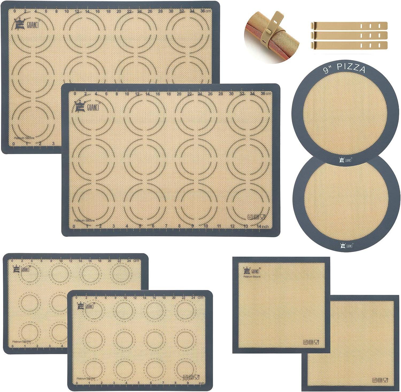 Max 47% OFF GUANCI Silicone Baking Mats Set of Quar Sheets 8-2 Half + Sales for sale 2