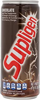 Supligen Chocolate Liquid Meal Supplement for Strength & Energy, 9.87 Oz (Pack Of 12)