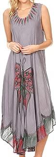 Sakkas Keola Women's Maxi Caftan Bathing Suit Cover Up Summer Dress Sleeveless