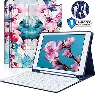 iPad Keyboard Case 9.7 with Pencil Holder for iPad 2018 (6th Gen) iPad 2017 (5th Gen) iPad Pro 9.7 iPad Air 2 Air 1 Bluetooth Wireless Detachable Keyboard Case
