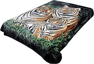 Solaron Original Bengal Tigers Thick Mink Plush Korean Style Super Soft Queen Size Blanket - Green