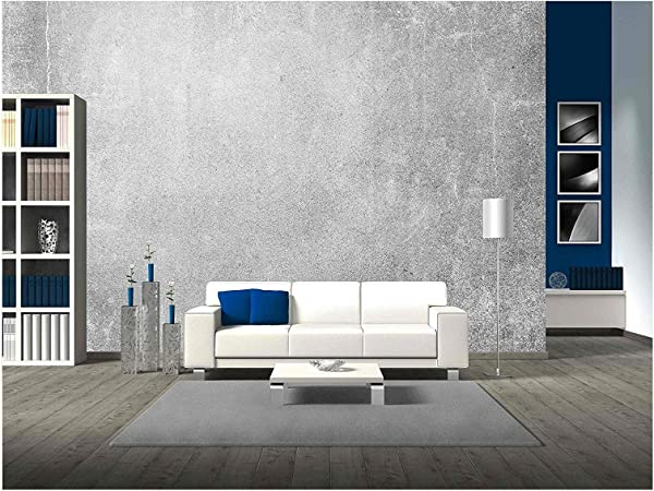 Wall26 Grey Wall Texture Grunge Background Removable Wall Mural Self Adhesive Large Wallpaper 100x144 Inches