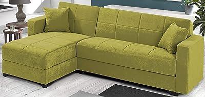 Mueble Sofá Cama con ChaiseLongue, Color Beige, Somier y ...
