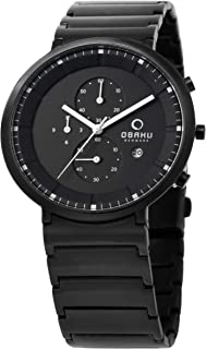 Obaku Men Watch Chronograph Black V147GBBSB1