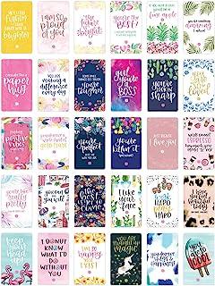 علبة بطاقات التشجيع اليومية لمنظمي الأزهار - بطاقات اقتباسات ملهمة لطيفة - فقط بسبب البطاقات - مجموعة من 30 بطاقة × 8.89 س...