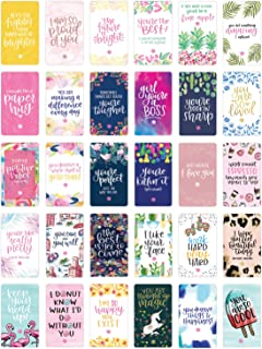 bloom daily planners Encouragement Card Deck - Cute Inspirational Quote Cards - Just Because Cards - Set of Thirty 2 x 3.5 Cards - Assorted Designs