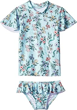 Mystical Garden Short Sleeve Rashie Set (Infant/Toddler/Little Kids)