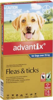 Advantix Flea and Ticks Control for Extra Large Dogs, Blue, 6 Pack