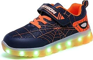 Axcer Mixte Enfants LED Chaussures de Sport 7 Changement de Couleur USB Rechargeable LED Lumineuse Clignotant Baskets Mode...