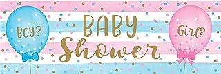 لافتة الحفلات العملاقة لحفلات استقبال المولود لمعرفة نوعه من كرياتيف كونفيرتنج، متعددة الألوان