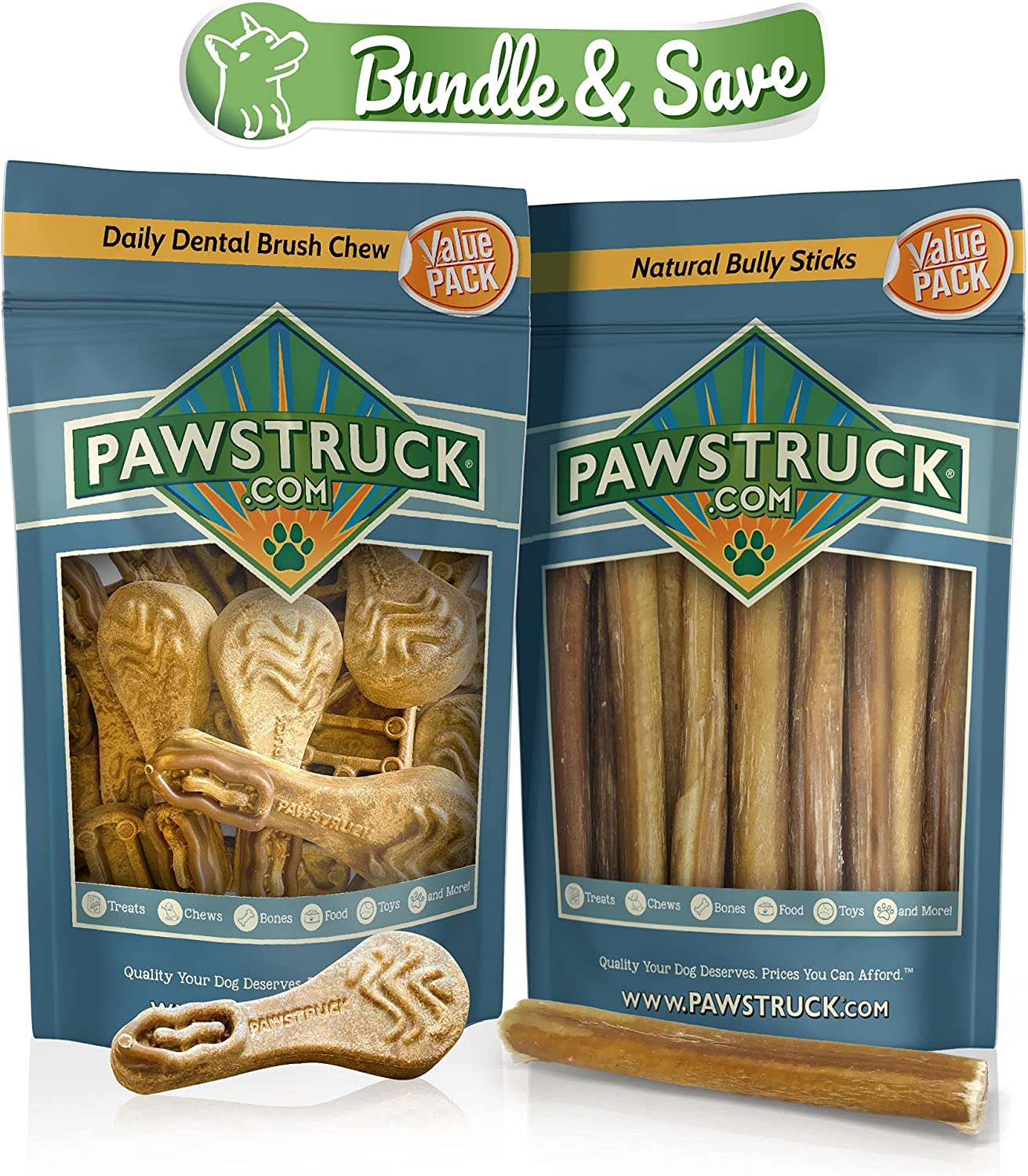 Natural Daily Dental Chews Bully Bundle Dogs Sticks 15-Pa Manufacturer regenerated product Outstanding for