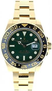Rolex Mens Unused 116718 GMT Master 2 Green Dial Ceramic Bezel 18k Yellow Gold Oyster Bracelet