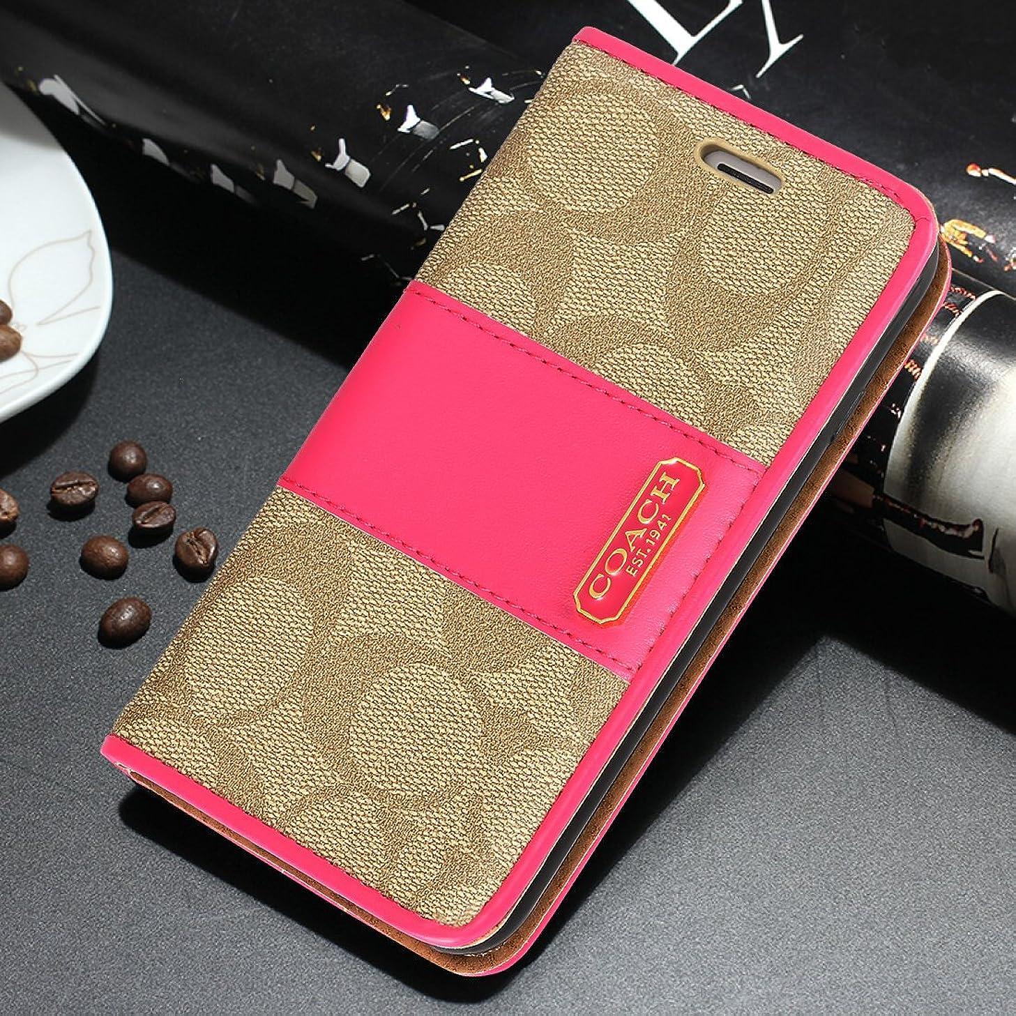 Iphone7/8 Iphone7plus/8plus IphoneX 手帳型 携帯ケース 人気高級PUレザー ウォレット式 携帯カバー カードポケット メンツ レディース ビジネス 多機能 (iphoneXS max, ピンク1)