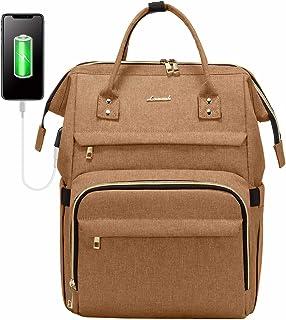Zaino donna porta PC Universita, LOVEVOOK Elegante Zaino Laptop Impermeabile, Zaino Computer Con Porta USB per Viaggi Lavo...