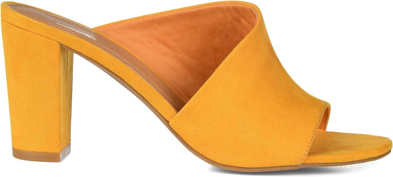 Brinley Co. Womens Open-Toe Block Heel Slide