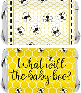 What Will Baby Bee Gender Reveal Mini Candy Bar Wrappers - 45 Stickers