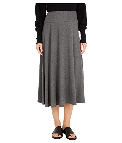 Michael Stars Tahoe Jersey Maude Flared Skirt (Charcoal) Women