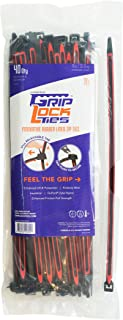 GRIPLOCKTIES, Releasable, Re-Usable, Zip Ties, Industrial Grade, Extra Grip, Rubber Lined, Durable, 12 Inches Long (40, Red)