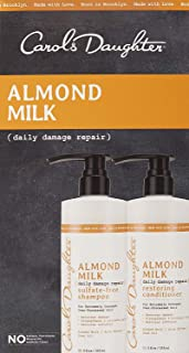 Carols Daughter Almond Milk Hair Care Gift Set for Extremely Damaged/Over-Processed Hair
