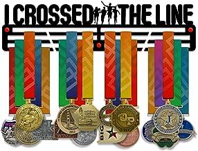 VICTORY HANGERS I Crossed the Line Medal Holder Display Rack - 3 Bars Black Coated 3 mm Steel Metal Hanger met Wall Mount ...