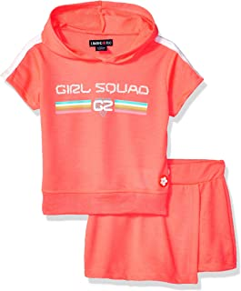 Limited Too Girls' 2 Piece Active Fashion Top and Skort Set