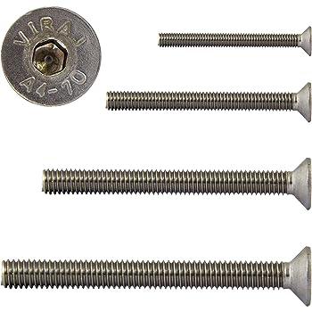 Senkkopfschrauben ISO 14581 // DIN 965 aus Edelstahl A2 V2A VPE: 10 St/ück Senkschrauben Gr/ö/ße M6 x 55 mm mit Vollgewinde und TX D2D