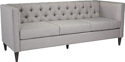 """Amazon.com: Homelegance Clemencia 85"""" Linen-Like Upholstered ..."""