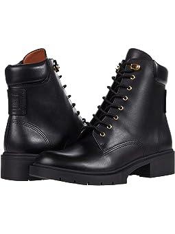 코치 부츠 COACH Lorimer Leather Bootie,Black
