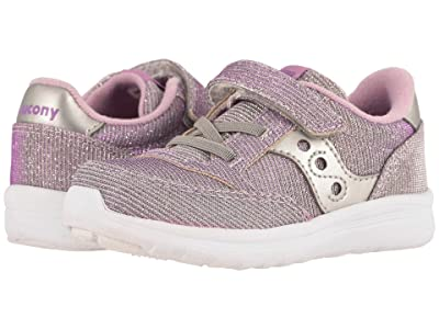 Saucony Kids Originals Jazz Lite (Toddler/Little Kid) (Silver/Purple) Girls Shoes