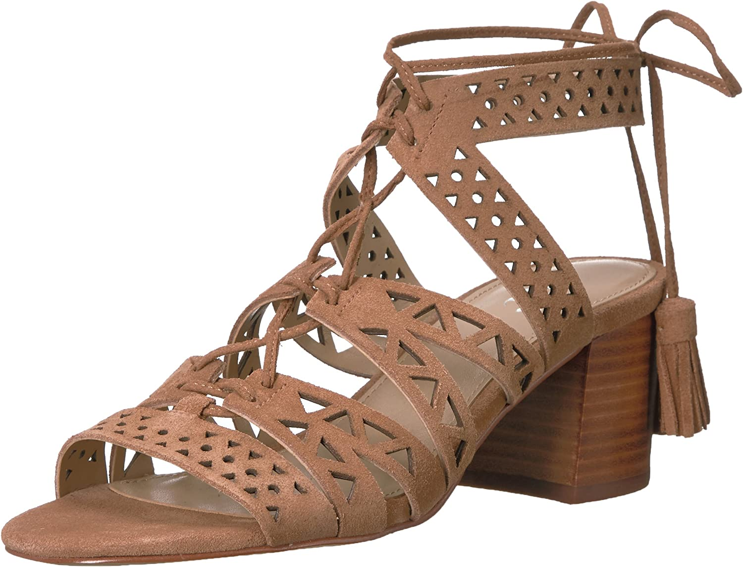 The Fix Women's Bonilla Block Heel Cutout Tribal Dress Sandal