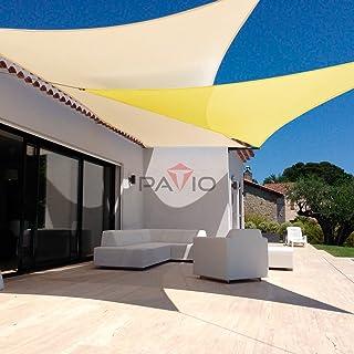 Patio Paradise 13` x 20` Beige Sun Shade Sail Rectangle Canopy - Permeable UV Block Fabric Durable Outdoor - Customized Available