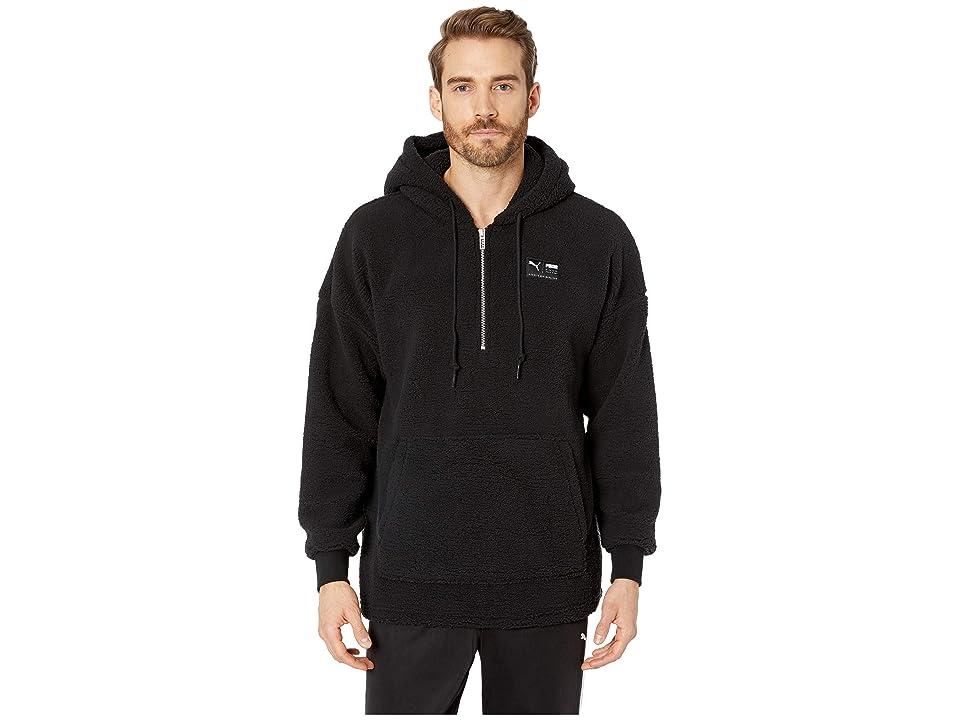 PUMA Downtown Sherpa 1/2 Zip Top (PUMA Black) Men