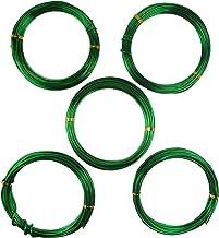 1,0 Mm, 1,5 Mm, 2,0 Mm Verde Totale 147 Piedi TOOGOO 9 Rulli Bonsai Fili nel Alluminio Anodizzato Bonsai Da Allenamento con 3 Dimensioni