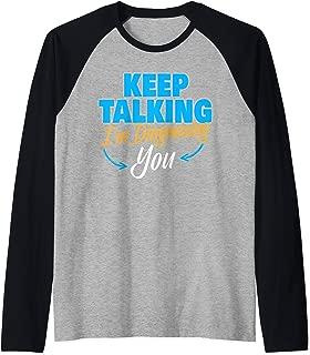 Keep Talking I'm Diagnosing You I Psychology Psychotherapy Raglan Baseball Tee