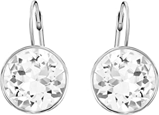 Women's Bella Heart Earrings Collection, Pink Crystals,...