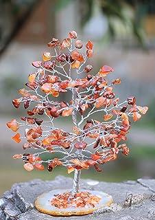 Crocon Carnelian Gemstone Money Tree Agate Slice Base Feng Shui Figurine Chakra Balancing Reiki Healing Crystals Ornament ...