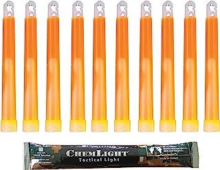 Luz Sticks muy brillantes con duraci/ón de 8 horas Cyalume Barra de luz azul militar ChemLight Lightsticks 15cm Caja de 10