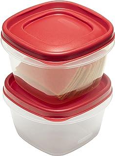 ربر ميد - طقم أوعية لحفظ الأطعمة و الخضروات 6 قطع - أحمر, 2.0C/473ml 2 Pack, 2 Cup