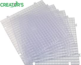Creator's Waffle Grid 4-Pack Solid Bottom Translucent/Clear Modular Surface For Glass Cutting, Drying Rack, Small Parts or Liquid Containment. Use At Home, Office, Shop - Works With Creator's Products