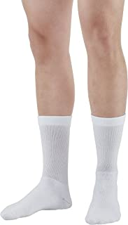 Ames Walker AW Style 130L Coolmax 15 20mmHg Compression Crew Socks White Large
