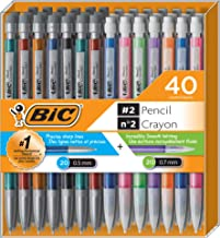 BIC Mechanical Pencil #2 EXTRA SMOOTH, Variety Bulk Pack Of 40 Mechanical Pencils, 20 0.5mm With 20 0.7mm Mechanical Led P...