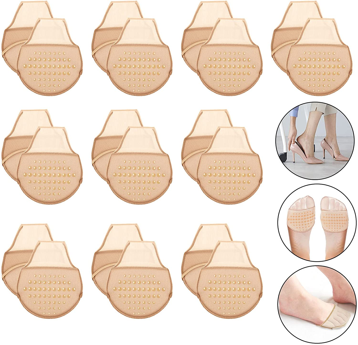 10 Same day shipping Pairs Women's Toe Cover with Liner Topper N Socks Deluxe Padding