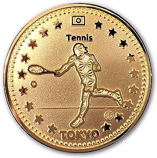 TOKYO SPORTS 記念 アスリートコイン Gold テニス Tennis Athlete Coin 高級磨き仕上げ 本金メッキ 日本製 オリジナルケース入り Made in Japan 東京 スポーツ