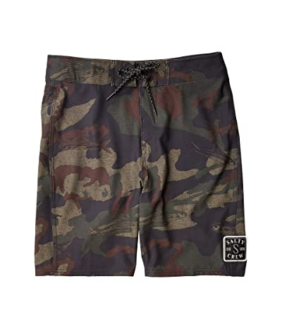 Salty Crew Kids Shacked Boardshorts (Little Kids/Big Kids) (Camo) Boy