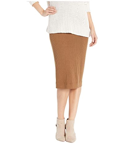 Hard Tail Midi Pencil Skirt (Hickory) Women