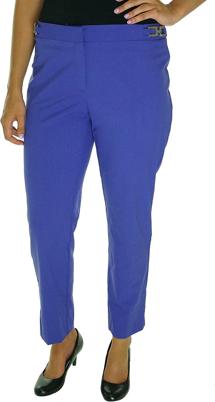 ELLEN TRACY Sportswear Women's Welt Pocket Slim Ankle with Hardware, Peri, 2 US